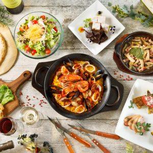 立川駅1分 本格パスタが美味しいイタリアン&スパニッシュのお店『CANTINA 立川店』でいただける、パエリアやサラダ、デザートなどの料理
