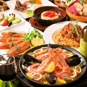 立川駅1分 本格パスタが美味しいイタリアン&スパニッシュのお店『CANTINA 立川店』でいただける、パエリアやパスタ、カマンベールチーズのアヒージョなどの料理