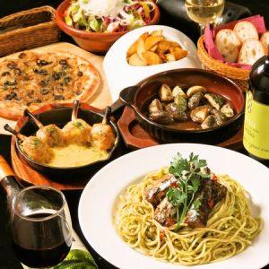 立川駅1分 本格パスタが美味しいイタリアン&スパニッシュのお店『CANTINA 立川店』でいただける、パスタやピザ、サラダなどの料理