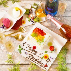 立川駅1分 本格パスタが美味しいイタリアン&スパニッシュのお店『CANTINA 立川店』で提供する、お誕生日におすすめのデザートプレート