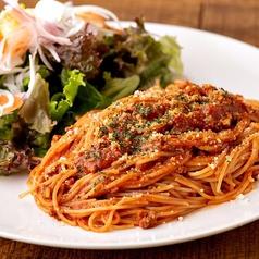 立川駅1分 本格パスタが美味しいイタリアン&スパニッシュのお店『CANTINA 立川店』でいただける、ランチでも頼めるトマトソースのパスタ