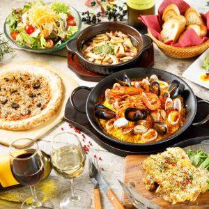 立川駅1分 本格パスタが美味しいイタリアン&スパニッシュのお店『CANTINA 立川店』でいただける、パスタやピザなどの名物料理を楽しめるコース