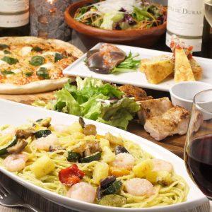 立川駅1分 本格パスタが美味しいイタリアン&スパニッシュのお店『CANTINA 立川店』でいただける、パスタやピザなどをカジュアルに楽しめるコース