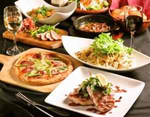 立川駅1分 本格パスタが美味しいイタリアン&スパニッシュのお店『CANTINA 立川店』でいただける、グリル料理やピザ、パスタなどを楽しめるコース